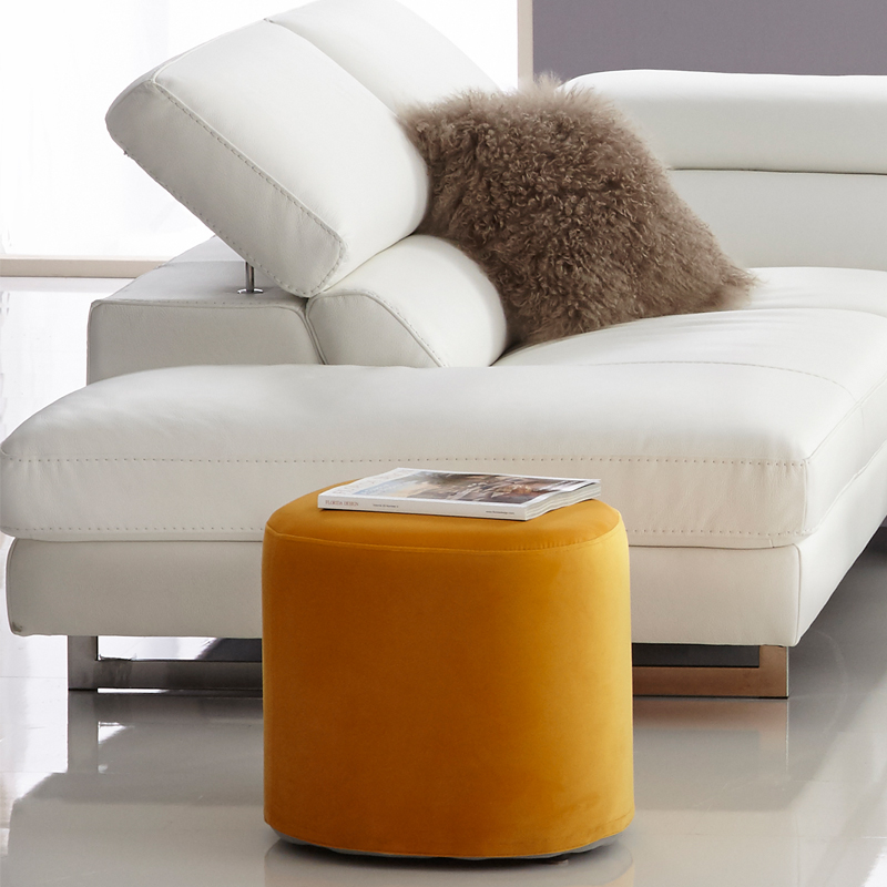 100 ottoman small linden brown leather small storage cube o